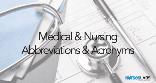 List of Medical and Nursing Abbreviations, Acronyms, Terms 2