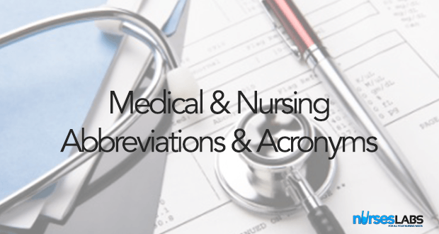 List of Medical and Nursing Abbreviations, Acronyms, Terms 1