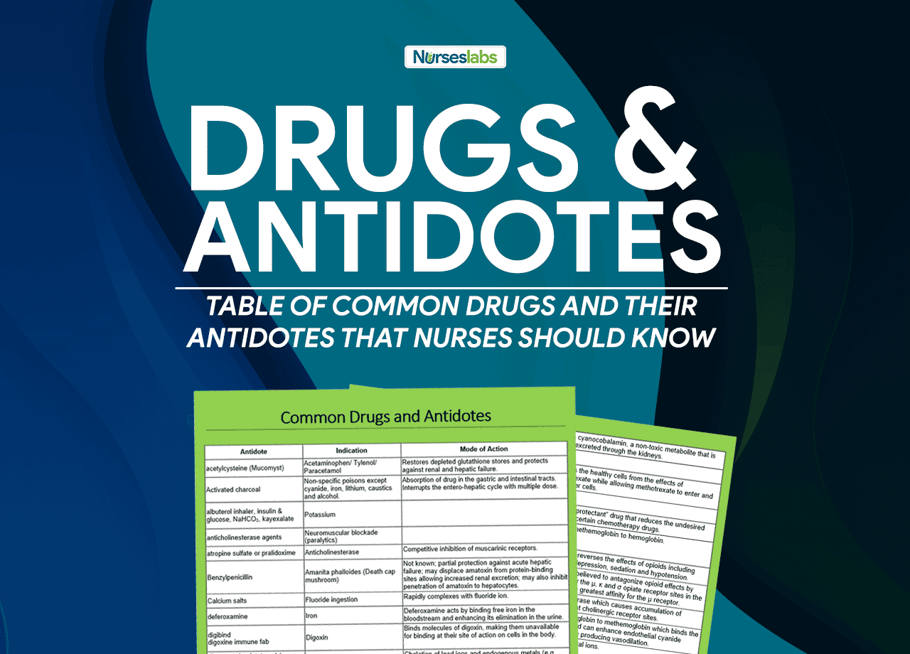 List of Common Drugs and Their Antidotes That Nurses Should Know!