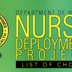 List of Centers for Health Development (CHDs) for Nurse Deployment Project