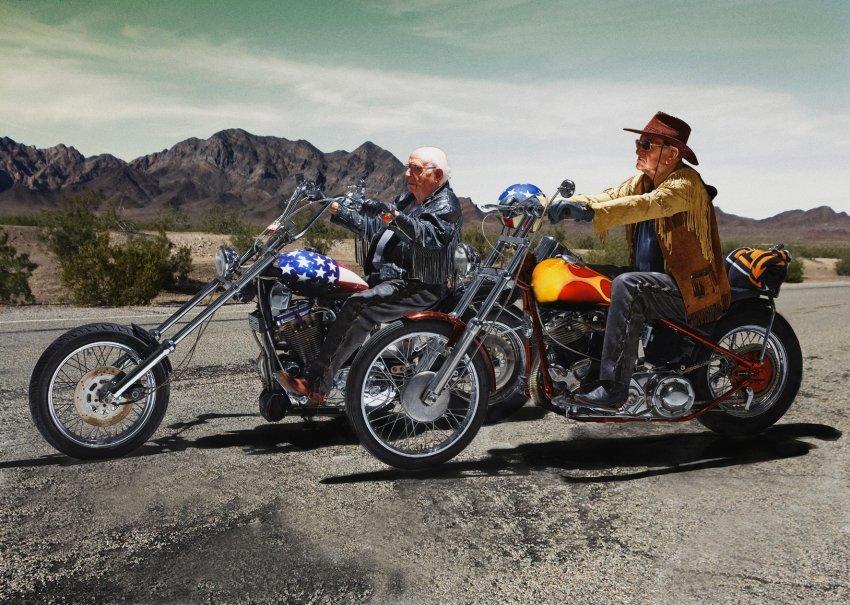 Easy Rider Walter Loeser (l.), 98, & Kurt Neuhaus, 90