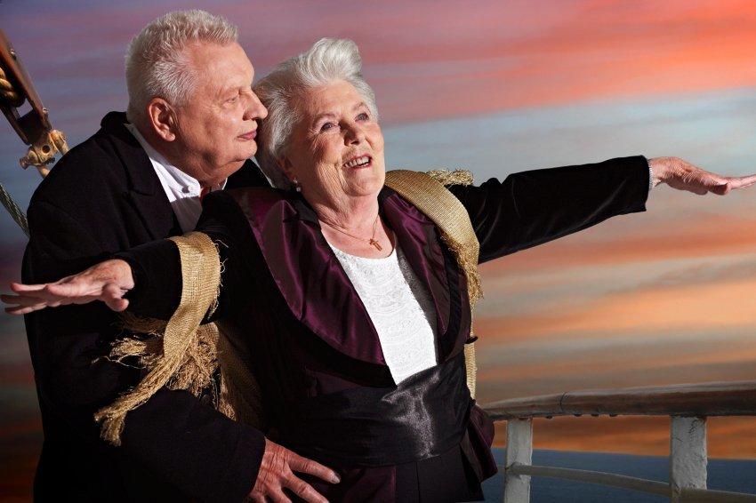 Titanic Erna Rütt, 86, und Alfred Kelbch, 81