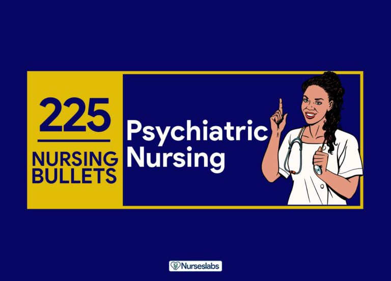 225 Nursing Bullets: Psychiatric Nursing Reviewer