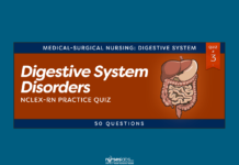 Digestive System Disorders NCLEX Practice Quiz #3 (50 Questions)