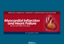 Myocardial Infarction and Heart Failure Practice Quiz (70 Questions)