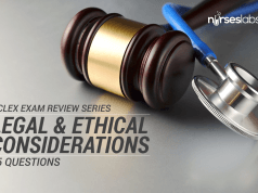65 item exam about Legal and Ethical Considerations in Nursing