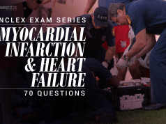 70 NCLEX Questions about Myocardial Infarction and Heart Failure