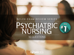 Mental Health and Psychiatric Nursing NCLEX Practice Quiz