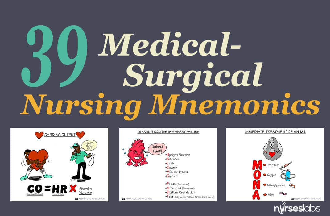 nursing pharmacology mnemonics