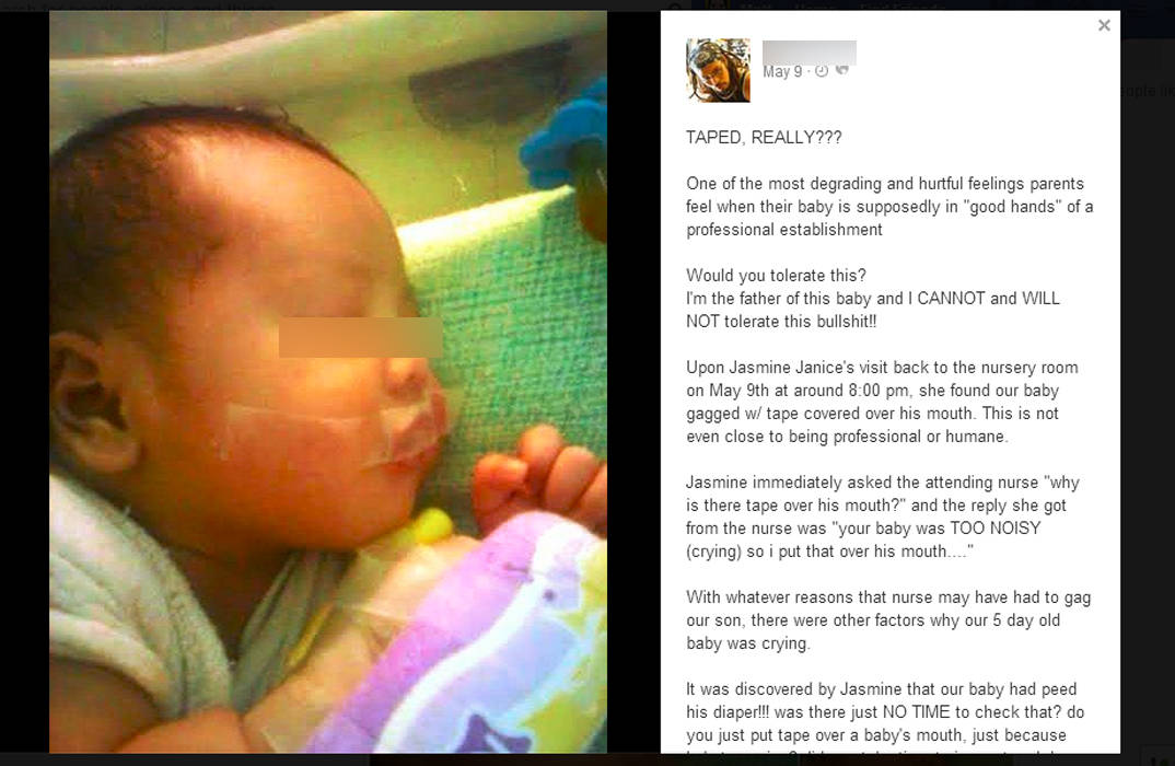 The father's outcry. Screenshot from Facebook.