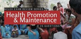 25 Item NCLEX quiz about Health Promotion and Maintenance
