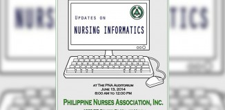 Updates on Nursing Informatics. Photo via PNA Facebook