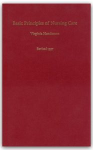 Book cover of Basic Principles of Nursing by Virginia Henderson