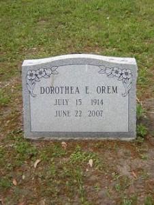 Orem's grave