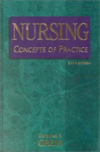 The 6th edition of Nursing: Concepts of Practice, published by Mosby in January 2001.