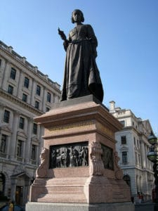 Crimean War Memorial located facing Waterkloo Place at the junction of Lower Regent Street and Pall Mall, London.