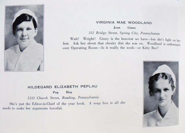 Hildegard Peplau in Pottstown Hospital School of Nursing Yearbook 1931