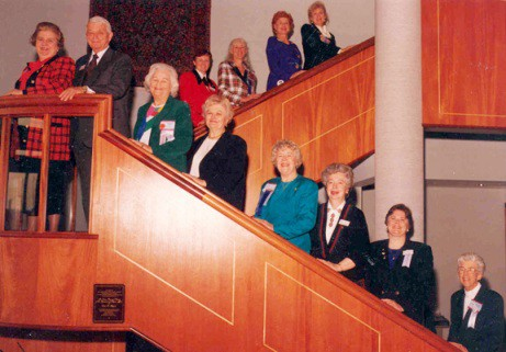 King (third from left) was among the first group of Virginia Henderson Fellows. This picture was taken in 1993 at the Honor Society of Nursing, Sigma Theta Tau International headquarters.