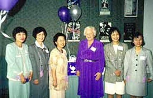 L to R: Dr. Tomomi Kameoka, Kumiko Hongo, Midori Sugimori, Dr. Imogene King, Dr. Naomi Funashima, Dr. Wakako Sadahiro.