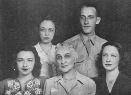 Rogers Family, circa 1945. Jane L. Coleman, Martha E. Rogers, Lucy K. Rogers, (Mother) Keener (Brother) , Laura B. Whihte (sister) via E.A.M. Barrett & V.M. Malinski, 1994