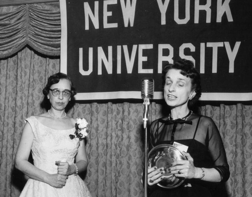 Rogers and her predecessor Vera Fry at NYU circa 1954