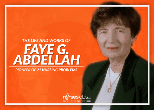 the twenty one nursing problem of faye glenn abdellah Faye glenn abdellah (born march 13, 1919) is a pioneer in nursing research in 1974 she became the first nurse officer in the us to receive the rank of a two-star rear admiral her research has helped to change the focus of nursing theory from a disease-centered to a patient-centered approach.