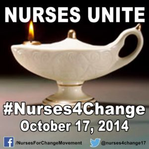 Nurses Unite! The movement urges everyone to change their profile picture with their logo to show support.