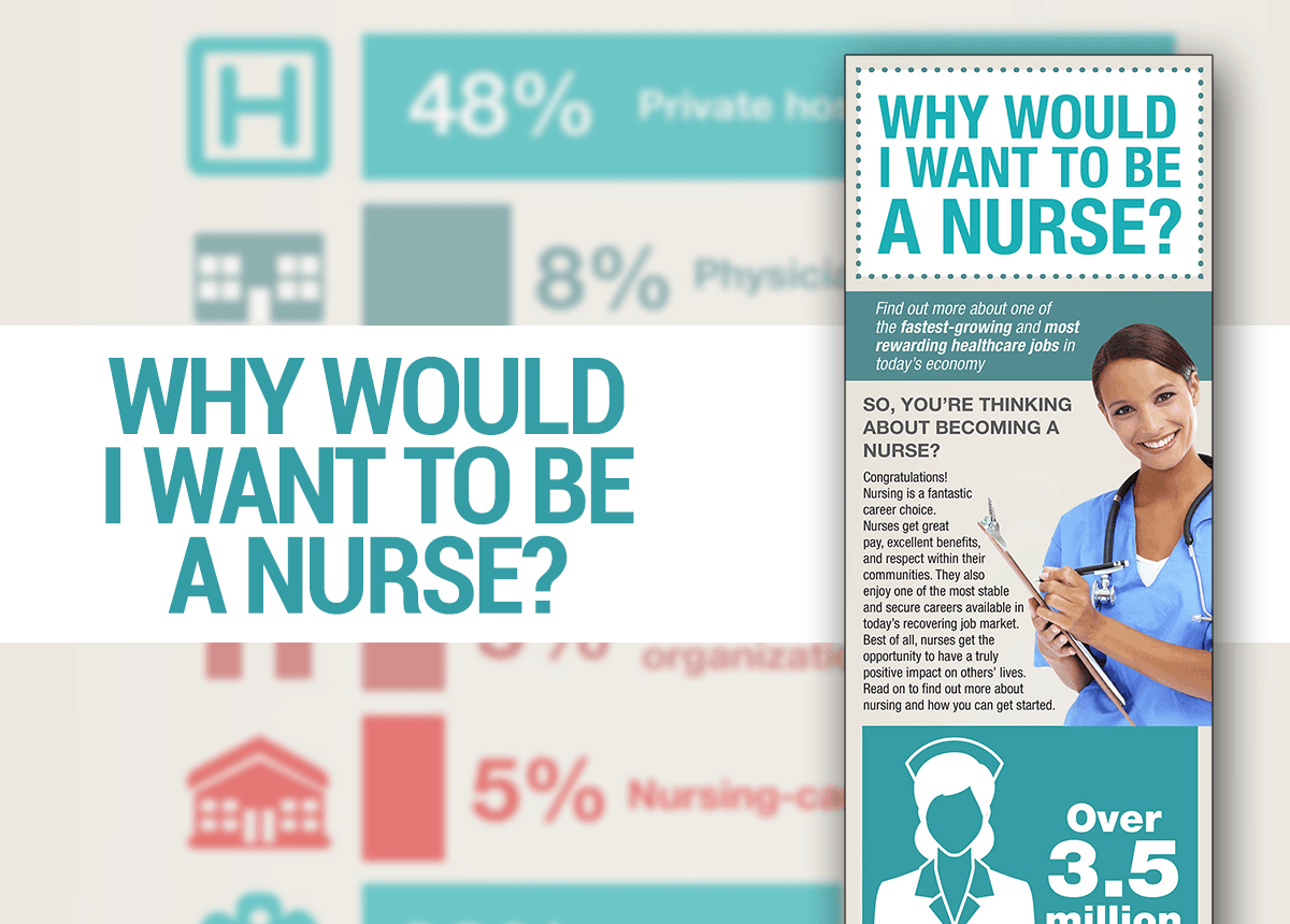 why would i want to be a nurse an infographic nurseslabs