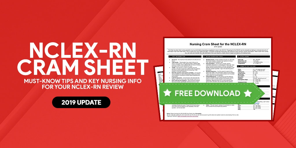 NCLEX-RN Cram Sheet for Nursing Exams: 2019 Update - Nurseslabs