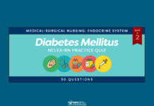 Diabetes Mellitus NCLEX-RN Practice Quiz #2 (30 Questions) - Nurseslabs