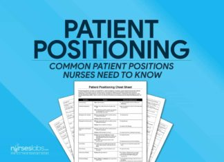 Patient Positioning Nursing Cheat Sheet for NCLEX