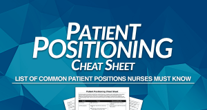 Patient Positioning for Nurses NCLEX Cheat Sheet