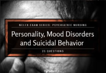 NCLEX Psychiatric Nursing: Personality, Mood Disorders, and Suicidal Behavior (25 Items)
