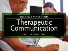NCLEX Exam: Therapeutic Communication 3 (15 Items)