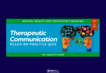 Therapeutic Communication NCLEX-RN Practice Quiz #2 (20 Questions)
