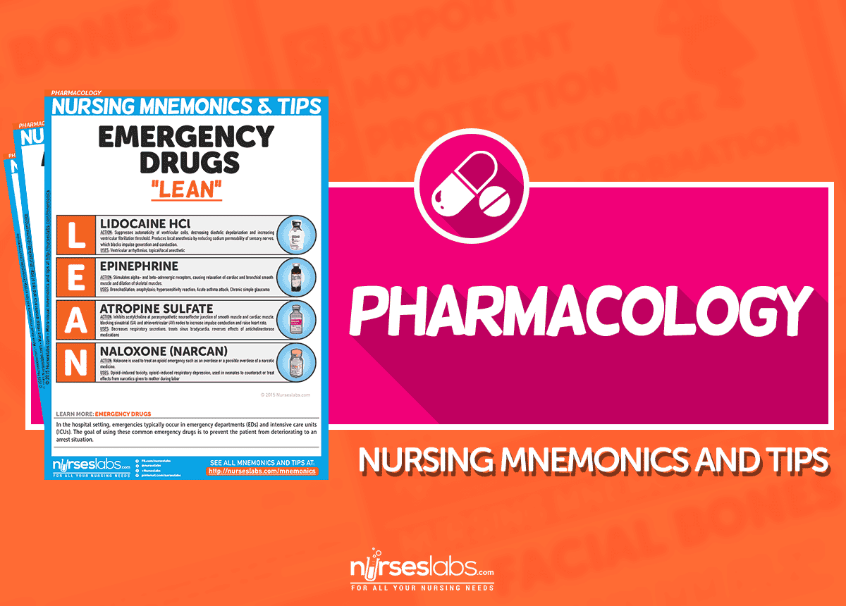Pharmacology Nursing Mnemonics  amp  Tips
