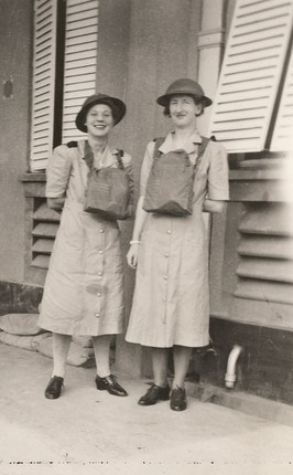 Sr Lorna Fairweather and Sr Annie Merle Trenerry of 13th AG. Sr Trenerry was one of twelve nurses who were lost at sea after the sinking of the Vyner Brooke.