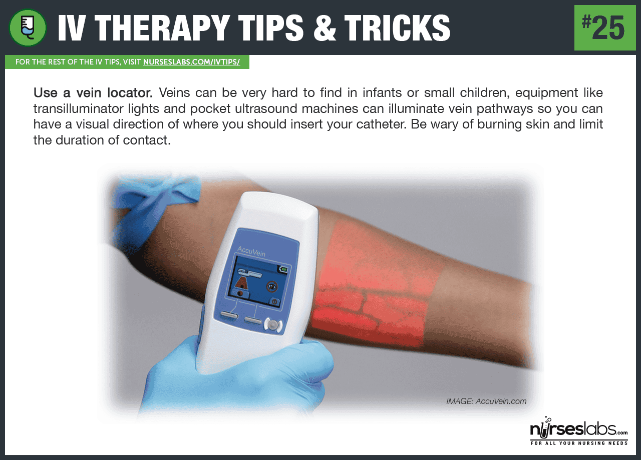 Example of a vein locator: Accuvein.