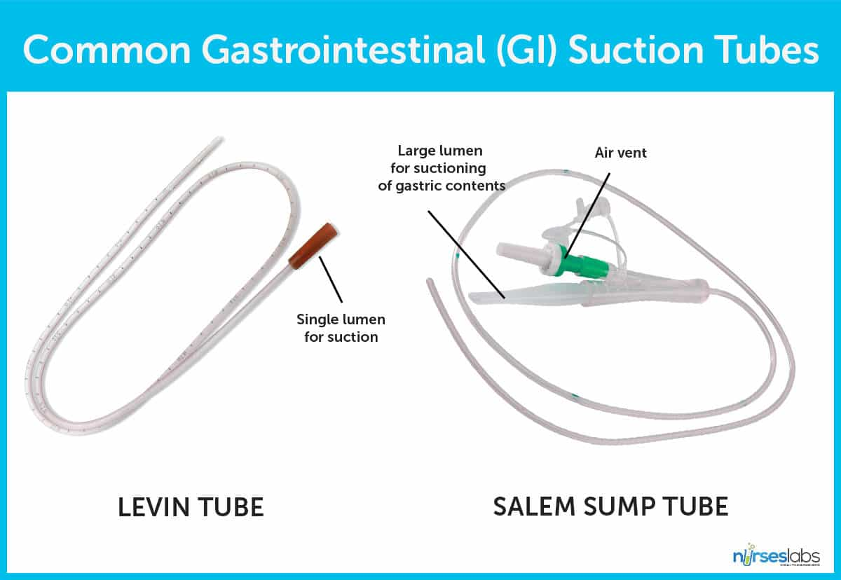 Two Types of Gastrointestinal (GI) Suction Tubes