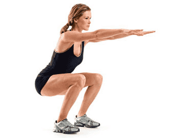 Squats can strengthen your lower extremities.