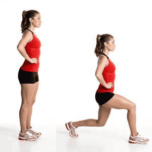 Lunges can help improve your balance.