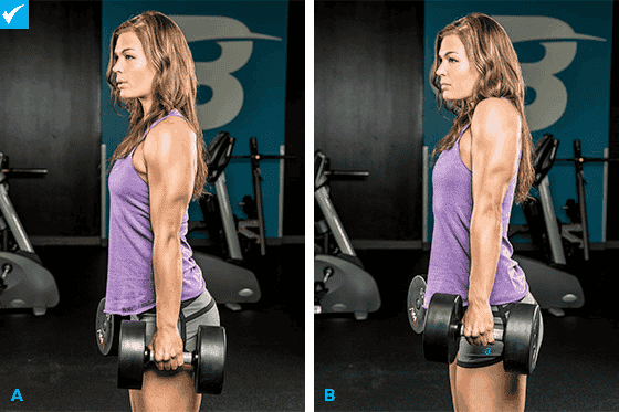 You can do the shoulder shrug with or without dumbbells.