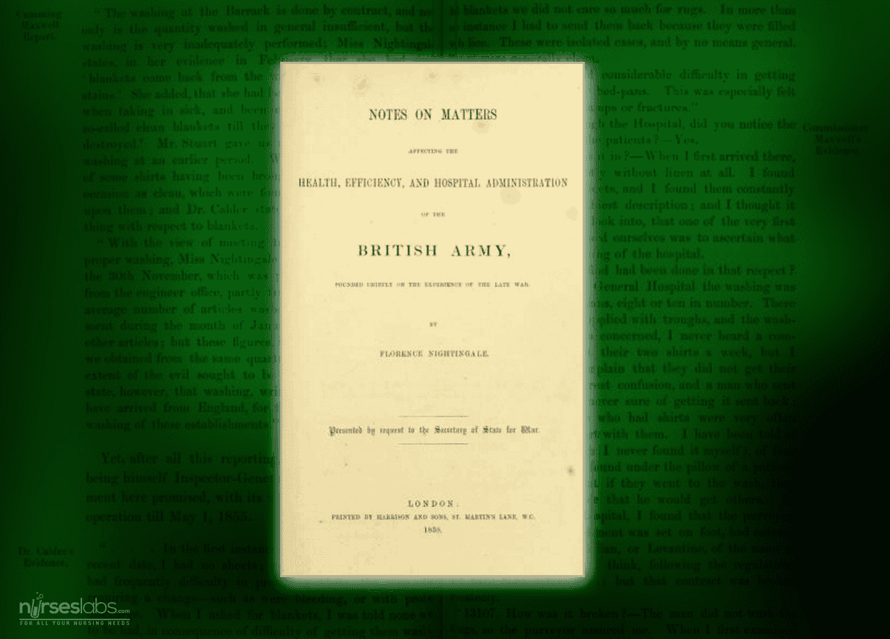 Notes on matters affecting the health, efficiency, and hospital administration of the British Army