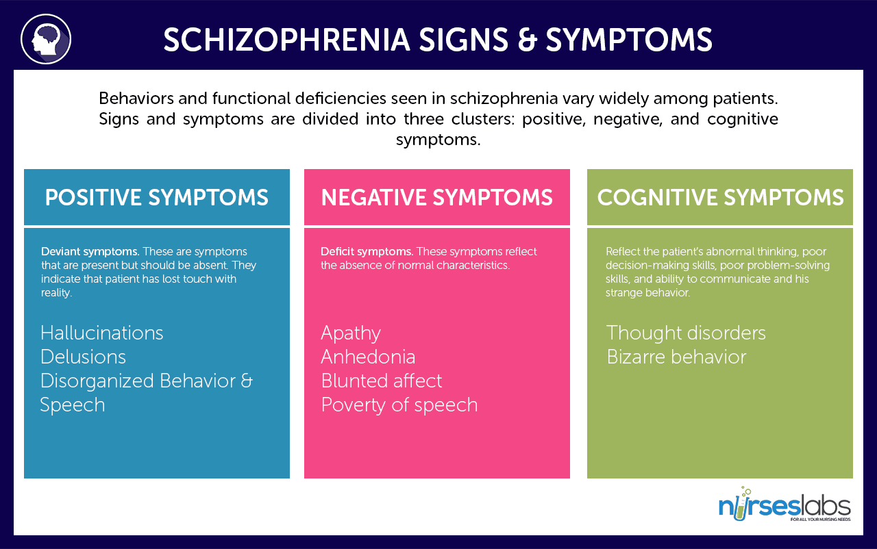 characteristics of schizophrenia Schizophrenia is an illness that disrupts the functioning of the human mind it  causes intense episodes of psychosis involving delusions and.