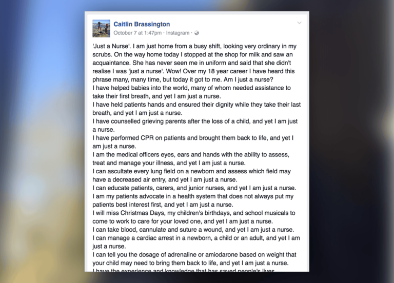 This Woman Gave the Perfect Response to a 'Just a Nurse' Comment