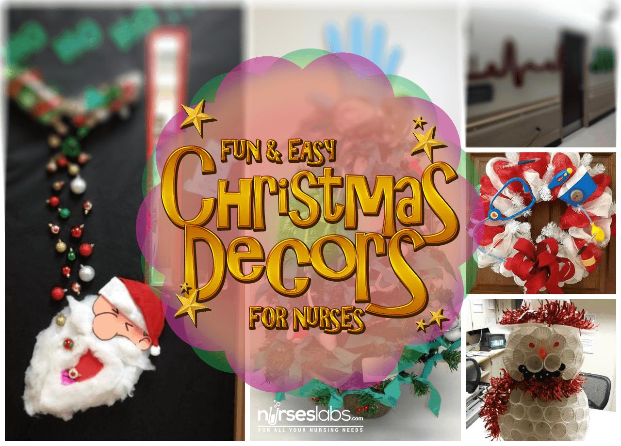 5+ Nursing Christmas Decor Ideas That Are Fun and Easy • Nurseslabs