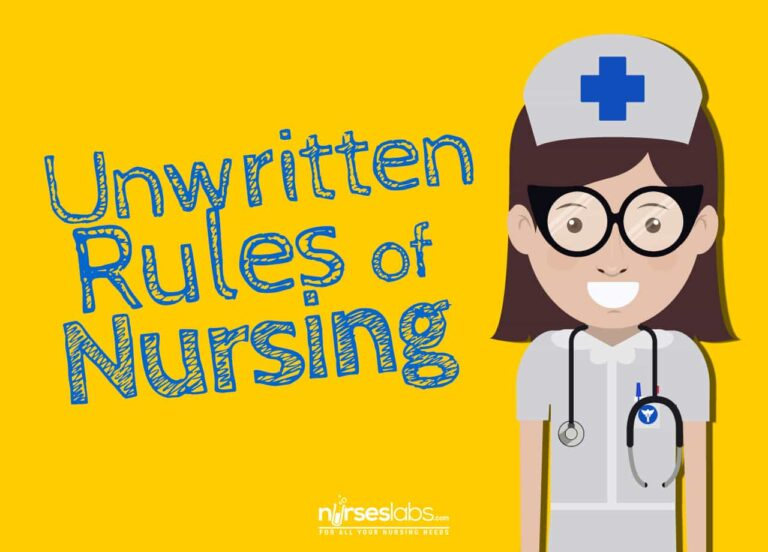 10+ Unwritten Rules for New Nurses