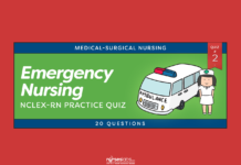 Emergency Nursing NCLEX Practice Quiz #2 (20 Questions)