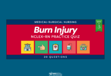 Burn Injury Nursing Management NCLEX Practice Quiz #3 (20 Items)