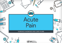 Acute Pain – Nursing Diagnosis & Care Plan - Nurseslabs